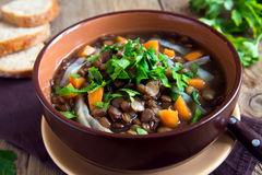 Lentil soup (stew) Royalty Free Stock Images