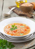 Lentil soup with vegetables Royalty Free Stock Image