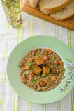 Lentil soup with Viennese sausage Royalty Free Stock Photography