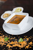 Lentil soup Stock Images