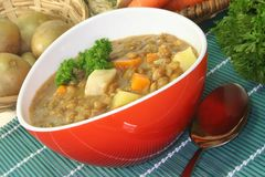 Lentil stew Royalty Free Stock Photo