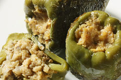 Lentil Stuffed Peppers Royalty Free Stock Photography