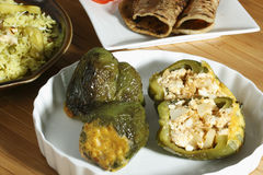 Lentil Stuffed Peppers Stock Images