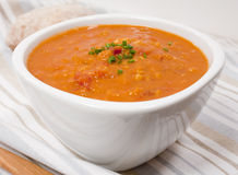 Lentil Tomato Soup Royalty Free Stock Photos