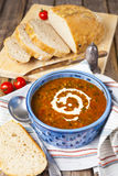 Lentil and tomato soup Royalty Free Stock Image