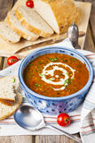 Lentil and tomato soup Royalty Free Stock Photos