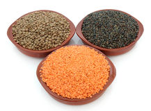 Lentil Varieties Royalty Free Stock Photography