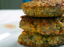 Lentil , Vegetable Fritters stock image