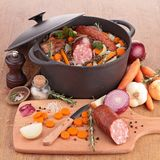 Lentil with vegetables and meat Stock Photography