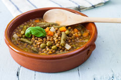 Lentil and vegetables Royalty Free Stock Photos