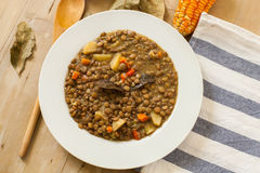 Lentil and vegetables Stock Photos