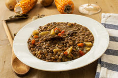 Lentil and vegetables Stock Image