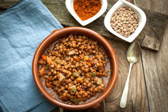 Lentil with veggetables Stock Image
