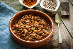 Lentil with veggetables Stock Photos