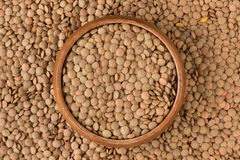 Lentil in a Wooden Bowl Royalty Free Stock Photo