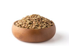 Lentil in a wooden bowl Stock Photos
