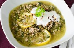 Lentilhas com carne moída e limão Imagem de Stock