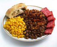 Lentilhas com milho enlatado Imagem de Stock