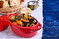 Lentilhas cozinhadas com vegetais Fotos de Stock Royalty Free