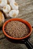 Lentilhas cruas fotografia de stock royalty free