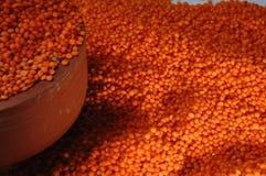Lentilhas vermelhas imagens de stock royalty free