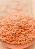 Lentilhas vermelhas Imagem de Stock