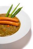 Lentille avec la saucisse Photographie stock libre de droits