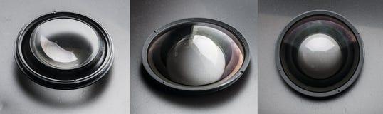Lentille convexe d'objectif de photo Photo libre de droits