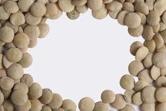 Lentille crue (culinaris de lentille) Images libres de droits