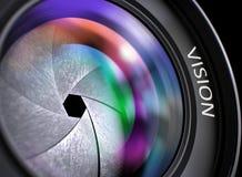 Lentille d'appareil-photo avec la vision d'inscription Image libre de droits