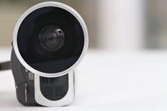 Lentille d'une caméra vidéo Photographie stock libre de droits