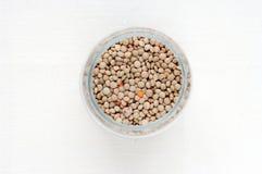Lentille dans un pot Photographie stock