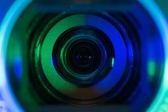 Lentille de caméra vidéo Photos stock