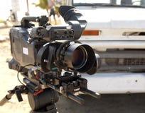 Lentille de caméra vidéo - exposition d'enregistrement dans la TV Photo libre de droits