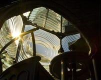Lentille de Fresnel - phare de Pensacola images stock