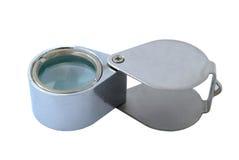 Lentille de main en métal Photos libres de droits