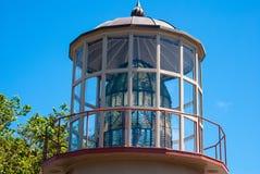 Lentille de phare de Mendocino de cap image libre de droits