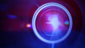 Lentille de projecteur de film banque de vidéos