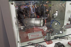 Lentille de sigma chez Photoshow juste Photo stock