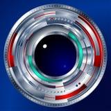 Lentille de techno de Cyber d'oeil Images libres de droits
