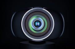 Lentille de webcam avec des réflexions colorées Photographie stock