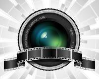 Lentille et film Images stock