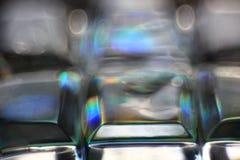 Lentille géométrique de vert de la géométrie de texture abstraite de couleur Photos stock