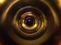 lentille proche d'appareil-photo vers le haut image stock