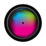 Lentille réaliste d'appareil photo numérique Photo libre de droits