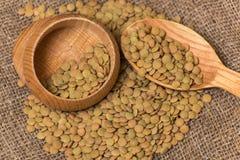 Lentille verte Photo stock