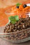 Lentilles de Brown images stock