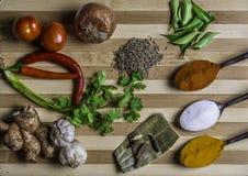 Lentilles et épice Images stock