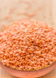 Lentilles rouges Image stock
