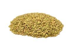 Lentilles vertes sèches Photographie stock
